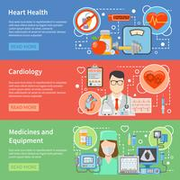 Banners planos de cardiologia