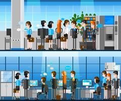 Composição de desenhos animados de pessoas de escritório vetor