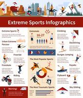 Infografia de esportes radicais vetor