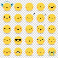Emoticons Conjunto Transparente vetor