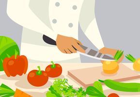 Cozinhe a ilustração de fundo vetor