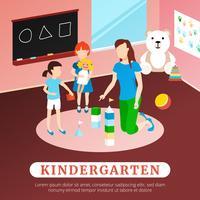 Ilustração de cartaz de jardim de infância