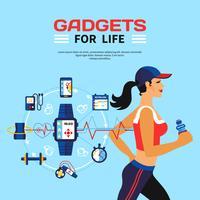 Tecnologia Inteligente Para Fitness vetor