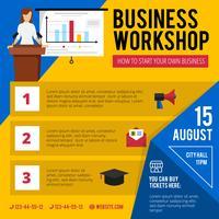 Cartaz do anúncio da oficina do treinamento do negócio