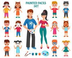 Pintura de rosto para conjunto de crianças
