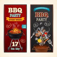Conjunto de Banners de festa de churrasco vetor