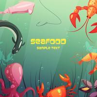Ilustração de desenhos animados de frutos do mar vetor