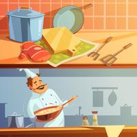 Conjunto de Banners de Cozinha