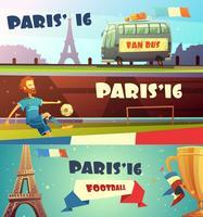 Euro 2016 conjunto de banner de futebol vetor