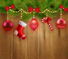 Modelo festivo de Natal vetor