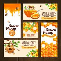 Banners de publicidade de mel vetor