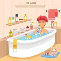 Cartaz quente do banho