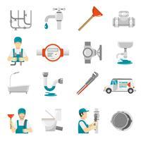 Conjunto de ícones de encanamento vetor