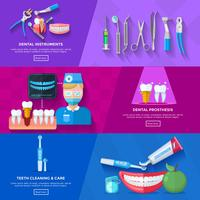 Dentista de bandeira plana