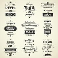 O sucesso cita cartazes tipográficos vetor