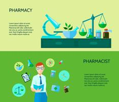 Conjunto de Banner dois farmacêutico