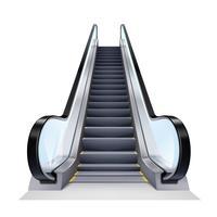 Ilustração realista de escada rolante vetor