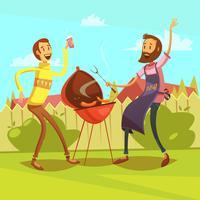 Ilustração de desenhos animados de churrasco