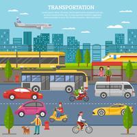 Transporte no cartaz da cidade vetor
