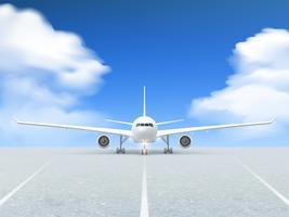 Cartaz da pista de decolagem do avião vetor