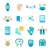 Conjunto de ícones de tecnologia inteligente vetor