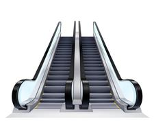 Conjunto de escadas rolantes para cima e para baixo vetor