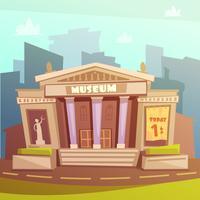 Ilustração dos desenhos animados do Museu