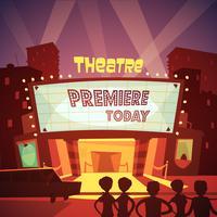 Ilustração de construção de teatro