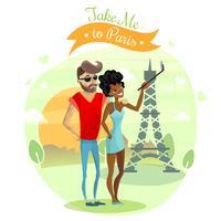 Ilustração de viagem romântica vetor