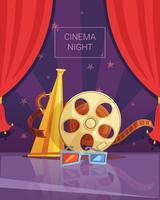 Ilustração de noite de cinema