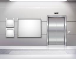 Salão interior do elevador vetor