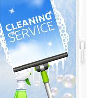 Ilustração de limpeza de janela vetor