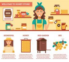 Infografia de mel de apicultura vetor