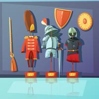 ilustração de armadura de museu