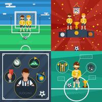 Composição de ícones plana de futebol