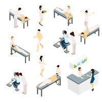Conjunto de ícones de massagem vetor