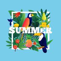 Quadro tropical de verão