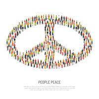 Cartaz da paz dos povos vetor