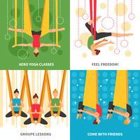 Conceito de Design Aero Yoga vetor