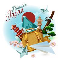 Descubra o Japão Poster vetor