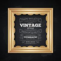 Ilustração de tipografia Vintage Frame