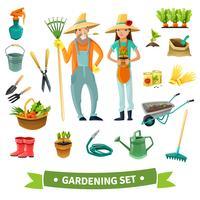 Conjunto de jardinagem dos desenhos animados