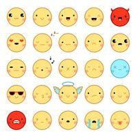 Emoji Emoticons Set vetor