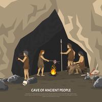 Ilustração de caverna pré-histórica