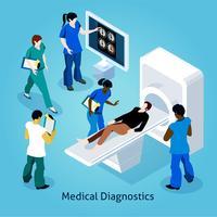 Na recepção no médico isométrico composição