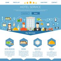 Design de Página de Serviço de Hotel vetor