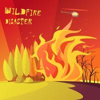 Ilustração de desastre de incêndio