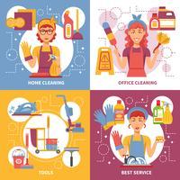 Conceito de Design de serviço de limpeza vetor