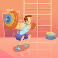 Ilustração dos desenhos animados de ginásio