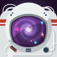 Ilustração plana de astronauta